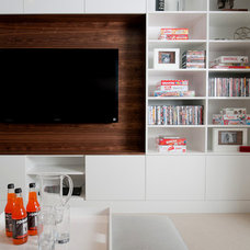 Modern Family Room by Portico Design Group