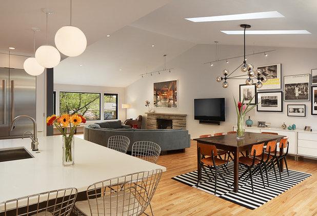 Midcentury Family Room by Balodemas Architects