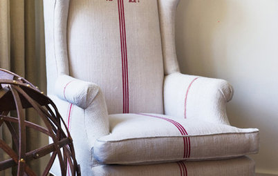 Fabric Focus: Decorate With Grain Sacks for Quick Farmhouse Style