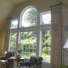 Traditional Family Room by Main Line Window Decor