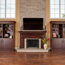 Traditional Family Room by Brandie McCoy, CKD