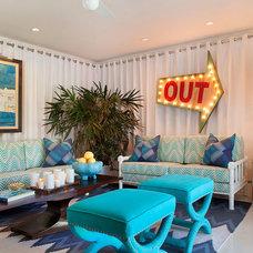 Midcentury Family Room by Joel Dessaules Design