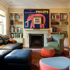 Contemporary Family Room by Lisa Teague Design Studios