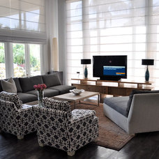 Modern Family Room by Greeson & Fast Design