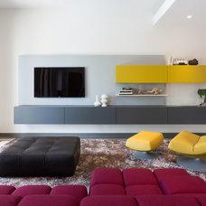 Contemporary Family Room by Touzet Studio