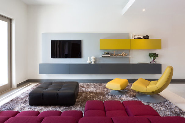 Contemporary Family Room by Touzet Studio
