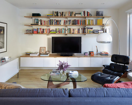 100 Midcentury New York Family Room Design Ideas Remodel Pictures Houzz
