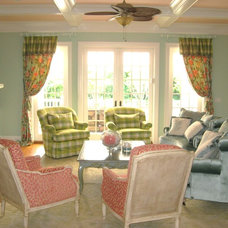 Traditional Family Room by Jere Bradwell