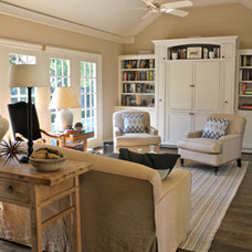 Eclectic Family Room by Cristopher Worthland Interiors