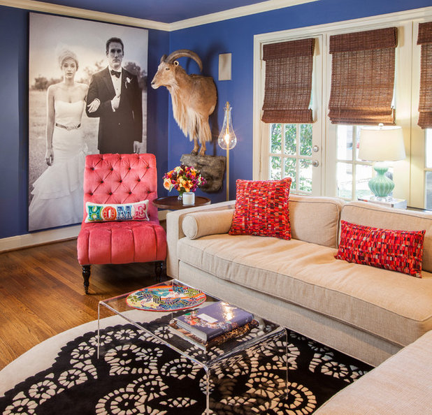 Traditional Family Room by Laura U Interior Design