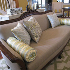 Traditional Family Room by Pink Door Designs