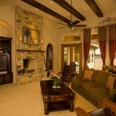 Mediterranean Family Room by Jim Boles Custom Homes