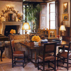 Mediterranean Family Room by Christopher James Interiors