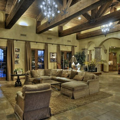 mediterranean family room by Integrity Luxury Homes