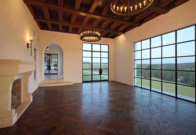 Family Room by Hugh Jefferson Randolph Architects