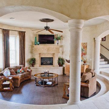 Spanish Style Home - Sunken Great Room