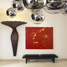Modern Family Room by Amy Noel Design
