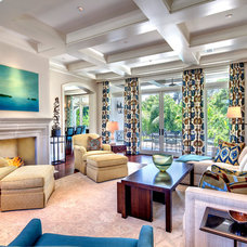 Tropical Family Room by Perrone Construction