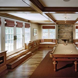 Country family and games room in Boston with a game room.
