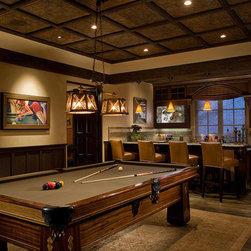 Orange county traditional game room family room design ideas pictures remodel and decor - Deco lounge tv ...