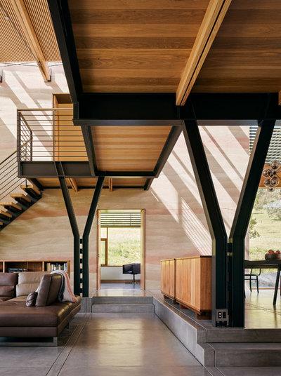 Contemporain Salle de Séjour by Feldman Architecture, Inc.