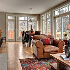 Transitional Family Room by Knight Construction Design | Chanhassen, Minnesota