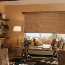 Rustic Family Room by Made in the Shade Blinds & More!