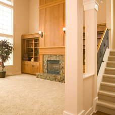Traditional Family Room by Hill Custom Homes