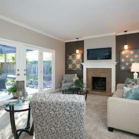 contemporary family room by LL Cool Homes