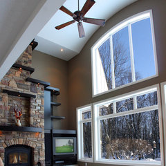 traditional family room by Schnarr Craftsmen Inc
