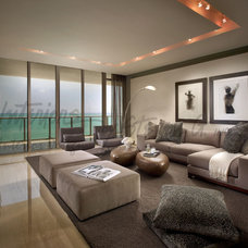 Contemporary Family Room by Interiors by Steven G