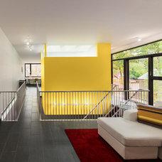 Contemporary Family Room by Kariouk Associates