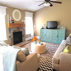 Eclectic Family Room Staci Chavez