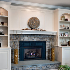 Traditional Family Room by CUSTOM CRAFT CONTRACTORS INC