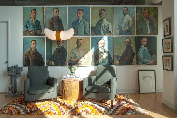 Éclectique Salle de Séjour by Adrienne DeRosa