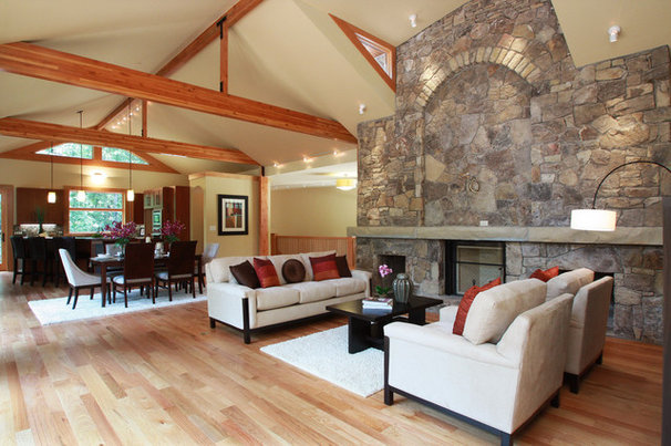 Rustic Family Room by Jamie McNeilis, Accredited Staging Professional