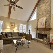 Traditional Family Room by Karen Parham - KMP Interiors