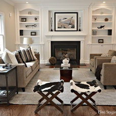 Contemporary Family Room by Elite Staging and Redesign, LLC