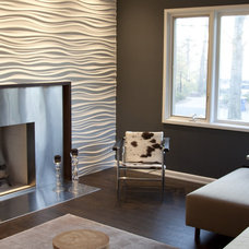 Modern Family Room by Wrightworks, LLC