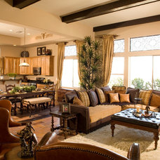 Mediterranean Family Room by dbrd, inc
