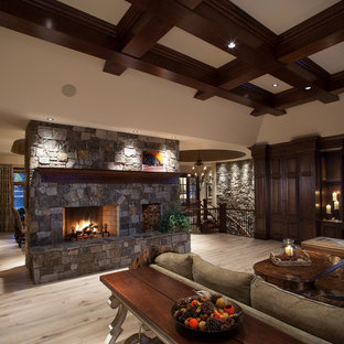 Statement Fireplace - Floor to Ceiling Stone