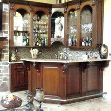Mediterranean Family Room by Robert Horwath Studio, LLC