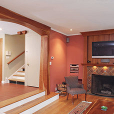 Traditional Family Room by Mick Hales