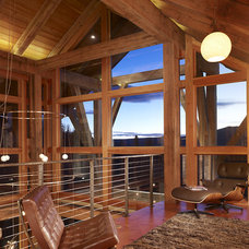 rustic family room by Robert Hawkins
