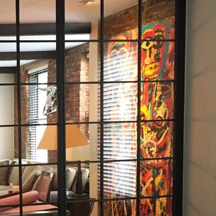 Steel & Glass French Doors Wall Panel