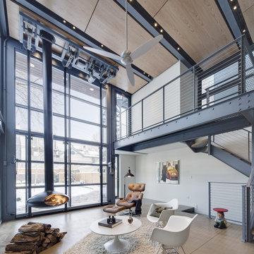 Steel & Glass Interior