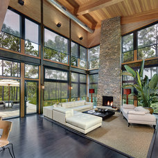 Contemporary Family Room by Steel Windows and Doors