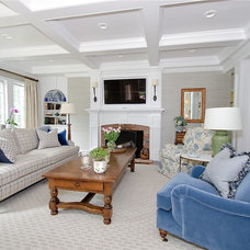Traditional Family Room by Verve Design LLC