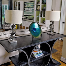 Eclectic Family Room by Interior Design Solutions by Maria, Inc.
