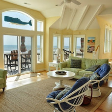 Beach Style Family Room by Tab Winborne Corporation